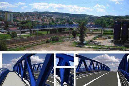 Vizualizace nového mostu v Blansku. Foto: Městský úřad v Blansku