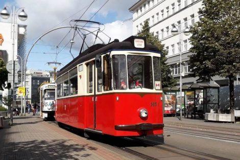 Tramvaj T2-62 v centru Liberce. Foto: DPMLJ
