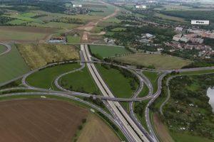 Vizualizace dálnice D1 u Přerova. Foto: ŘSD