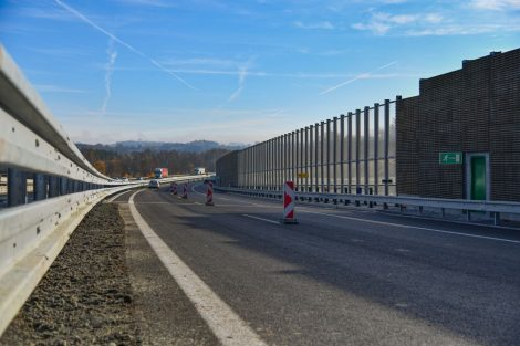 Modernizace úseku 12 dálnice D1 mezi Humpolcem a Větrným Jeníkovem. Foto: Skanska