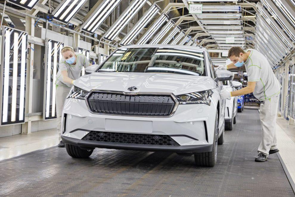 Sériová výroba modelu Enyaq iV. Foto: Škoda Auto