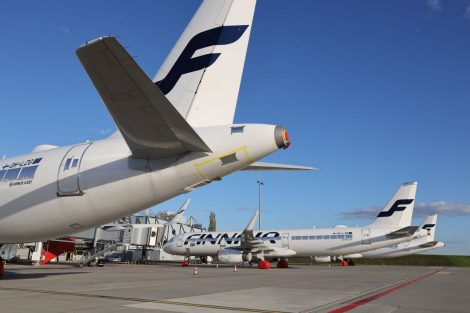 Odstavené airbusy A320 Family v Praze. Foto: Czech Airlines Technics