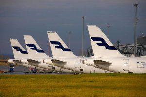 Odstavené Airbusy A320 Family společnosti Finnair v Praze. Foto: Rosťa Kopecký / Flyrosta.com