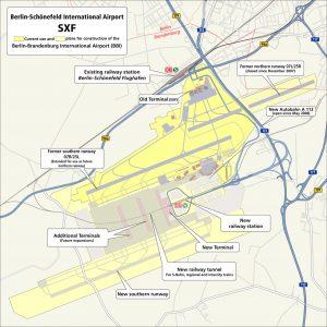 Mapa Letiště Willyho Brandta. Foto: BER