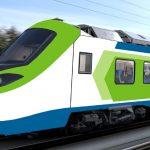 Vizualizace jednotky Alstom Coradia Stream s pohonem na vodík pro Ferrovie Nord Milano. Foto: Alstom