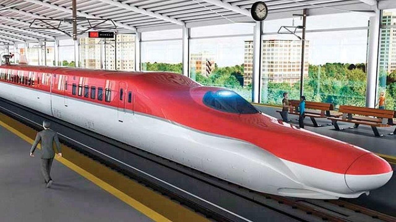 Vizualizace budoucích vysokorychlostních jednotek v Indii. Foto: High Speed Rail Corporation of India Ltd