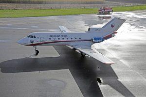 Jak-40 v Kunovicích. Foto: Muzeum Kunovice