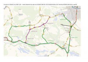 Mapa objízdných tras pro uzavírku silnice Česká Lípa - Kozly. Foto: Liberecký kraj