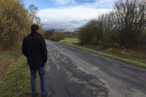 Silnice mezi Českou Lípou a Kozly. Foto: FB Jana Svitáka