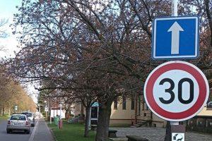 Značka omezující rychlost na 30 km/h. Foto: Obecní úřad Lidice