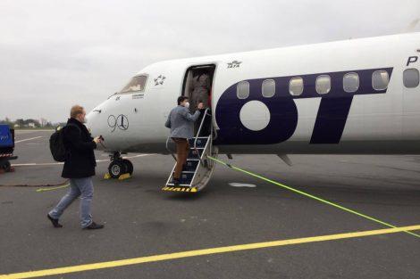 Letoun Bombardier Dash 8 Q400 v Ostravě. Foto: Ondřej Kostelník / LKMT Spotters