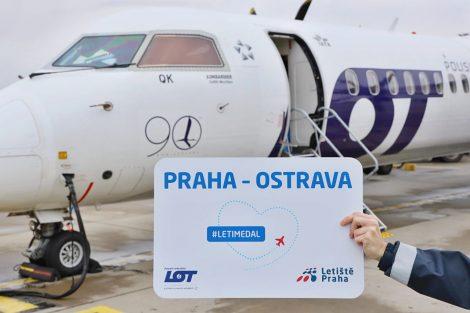 První vnitrostátní let společnosti LOT v Praze. Foto: Letiště Praha