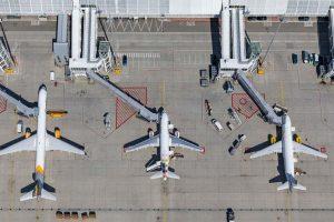 Letadla u Terminálu 1 mnichovského letiště. Foto: Letiště Mnichov