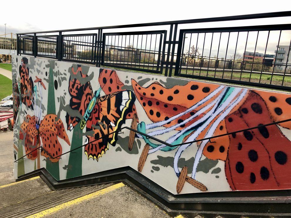 Mural art, anebo nová výzdoba stanice Opatov. Pramen: DPP