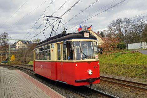 Tramvaj T2-62 na Nové Rudě. Foto: Jan Sůra / Zdopravy.cz
