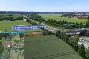 Vizualizace budoucího železničního mostu přes D35. Foto: ŘSD