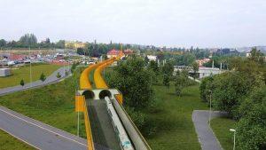 Vizualizace tunelů na Praze 6. Pramen: Správa železnic
