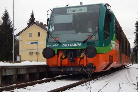 Vlak GW Trainu na Černém Kříži. Autor: Zdopravy.cz/Jan Šindelář