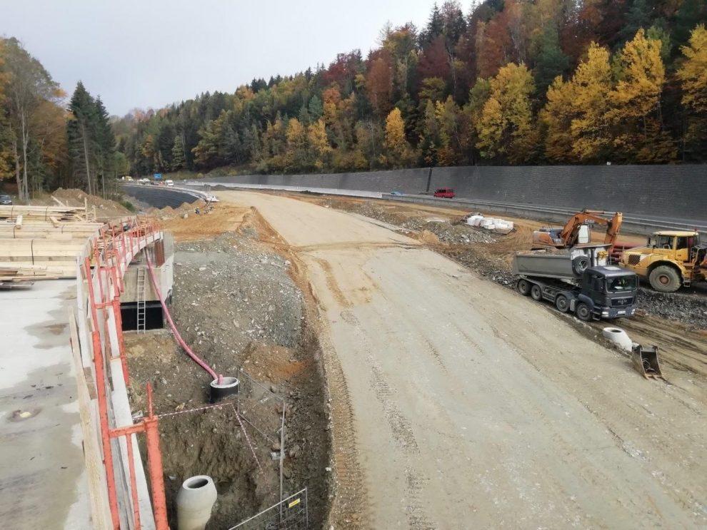 Stav křižovatky Rádelský mlýn v listopadu 2020. Foto: ŘSD