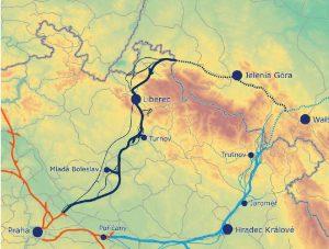 Trasy RS5 k posouzení v územně-technické studii.