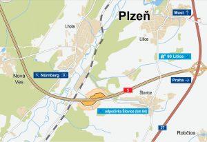 Mapa odpočívky Šlovice na D5. Foto: ŘSD