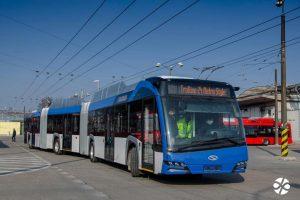 Solaris Trollino 24 v Bratislavě. Foto: DPB