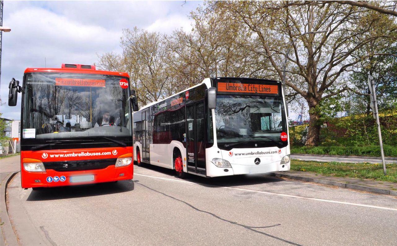 Autobusy pro MHD společnosti Umbrella v Německu. Foto: Umbrella Mobility