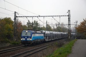 Lokomotiva Siemens Vectron Českých drah v čele nákladního vlaku ČD Cargo. Foto: ČD Cargo