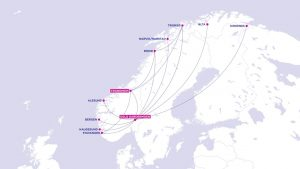 Síť linek Wizz Air v Norsku. Foto: Wizz Air