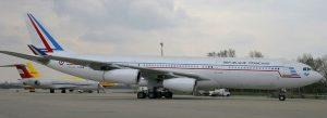 Airbus A340-200 v barvách francouzské vládní letky. Foto: https://encheres-domaine.gouv.fr