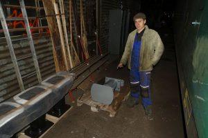 Adam Kotas, vedoucí projektu opravy Žehličky
