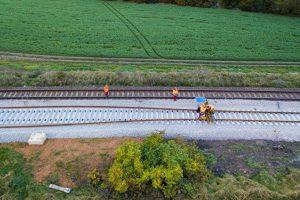 Modernizace trati Brno - Zastávka u Brna. Foto: Skanska