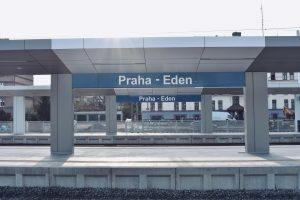 Nová zastávka Praha-Eden. Pramen: ROPID