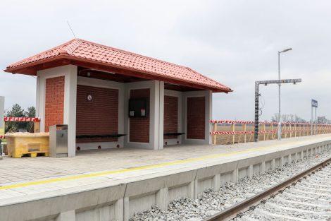 Nová podoba zastávky Hlušovice. Pramen: Správa železnic