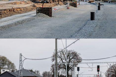 Stanice Bohuňovice v květnu a prosinci 2020. Pramen: Správa železnic