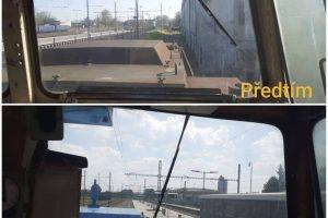 """Pohled ze stanoviště strojvedoucího """"Žehličky"""" před a po rekonstrukci. Foto: Adam Kotas"""