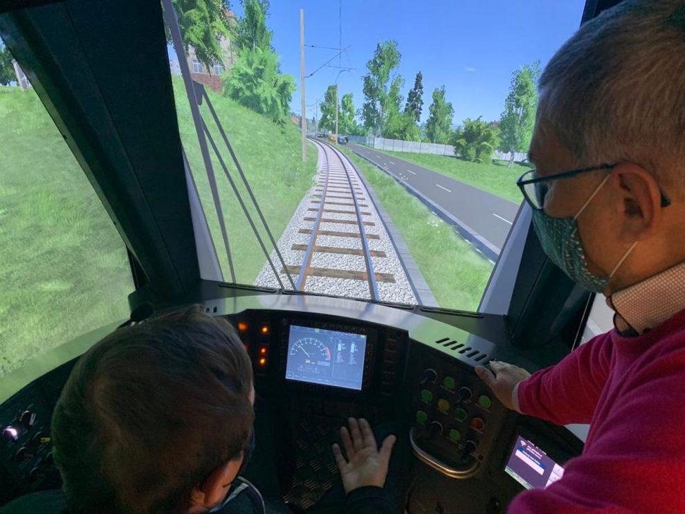 Simulátor tramvaje. Foto: DPO