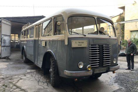 Autobus Škoda 706 RO z roku 1949. Pramen: archiv Martin Uher