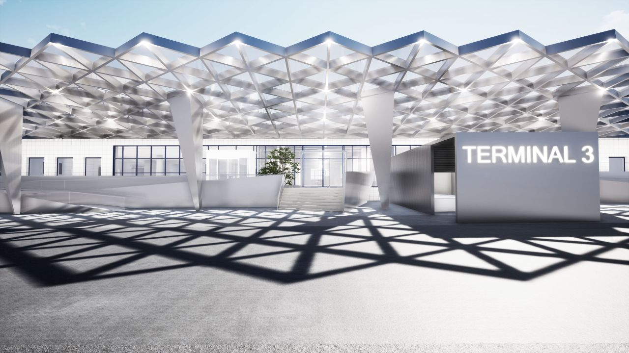 Vizualizace Terminálu 3 po rekonstrukci. Foto: Letiště Praha
