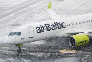 Nové airbusy A220-300 v barvách airBaltic. Foto: airBaltic