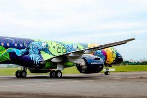 Embraer E195-2 v novém zbarvení pro Azul Lihnas Aereas.. Foto: Embraer