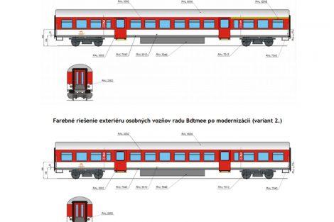 Vizualizace podoby vozidel Bdtmee po modernizaci. Foto: ZSSK