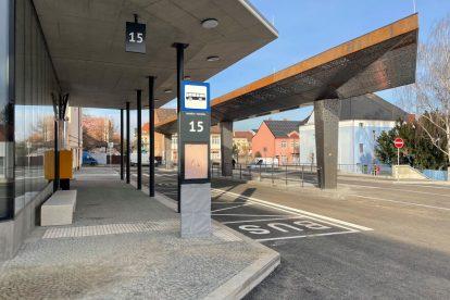Nový terminál v Benešově. Foto: PID