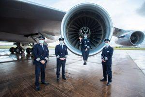 Rozlučka zaměstnanců British Airways s Boeingem 747-400. Foto: British Airways