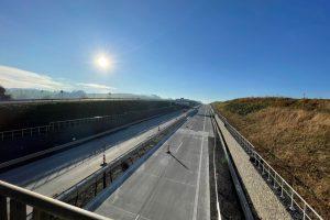 Nový úsek dálnice D8 mezi Rychalticemi a Rybím. Foto: Metrostav Infrastructure