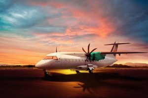 Vizualizace nového letadla D 328 eco. Foto. Deutsche Aircraft