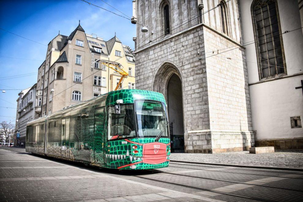 Tramvaj EVO 2 Drak v Brně. Foto: DPMB