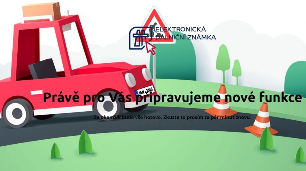 Stav stránek edalnice.cz 1. 12. 2020 ráno