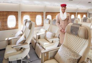 Premium economy v A380 společnosti Emirates. Foto: Emirates