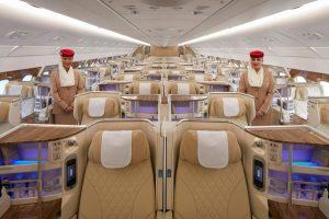 Byznys třída v A380 společnosti Emirates. Foto: Emirates